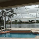 White Pool Enclosure